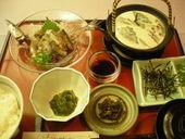 胡麻秋刀魚定食、釧路初お